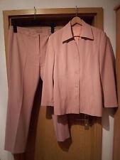 Damen Hosenanzug Gr. 50 (italienische Größe), rosa, einreihig, Business