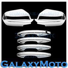 07-11 HONDA CRV Triple Chrome Plated Full Mirror+4 Door Handle Cover Trim kit