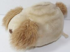 Vintage TOMY PUMP AND ROLL Stuffed Plush Animal DOG TOY Cute Ears COVER EYES
