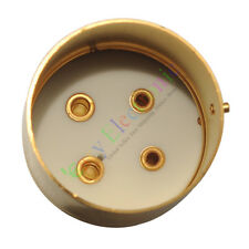 4pc 4pin Gold Ceramic vacuum tube sockets valve base For U4A 300B 811 audio amp