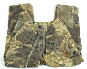 Mens Cabelas Camouflaged Pants Cargo Hunting Camo Size 34