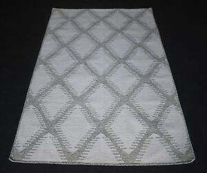 80% Wool 20% Jute Hand Woven Geometric Area Rug 4x6 Feet Decorative Area Rug