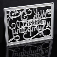 DIY Square Letters Dies Metal Cutting Stencil For Scrapbooking PaperCard  Decors