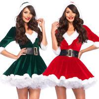 Christmas Fancy Mrs Santa Claus Dress Xmas Ladies Womens Adults Costume OutfBDA