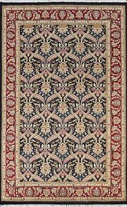 Vegetable Dye Traditional All-Over Oriental Area Rug Wool/ Silk Hand-knotted 5x7