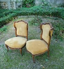 paire de chaises a oreilles style louis XV