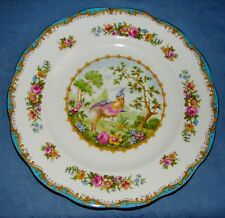 "VINTAGE ROYAL ALBERT BONE CHINA 8"" SALAD DESSERT PLATE CHELSEA BIRD BLUE ENGLAND"