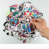 Lots 100x Mixed Sticker Decal Vinyl Roll for Car Skate Skateboard Laptop Luggage