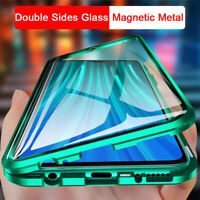 For Xiaomi Mi Poco X3 NFC 10T Pro 5G Magnetic Metal Front &Back Glass Case Cover