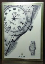 ROLEX - WATCH BRASS FRAME PICTURE DISPLAY - DATEJUST - VINTAGE -OFFERS WELCOME