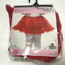 Enchanted Costumes By Leg Avenue E13 Childrens Petticoat Red Sz M/L Style# 4894