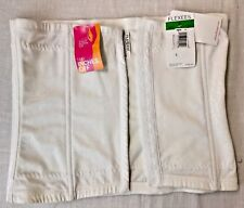 Flexees muffin top  Instant Slimmer Waist Nipper take inches off white  sz L NWT