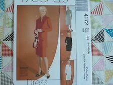 McCall's 4172 misses' & Petite cut to fit dress tunic Sewing Pattern size 8-14