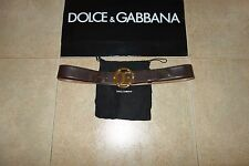Dolce&Gabbana Black Label GOLD EMBLEM Leather Belt Cintura 90 cm(36 inch.) RARE!