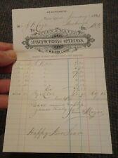 1885 New York New York Stern & Mayer Manufacturing Opticians letterhead