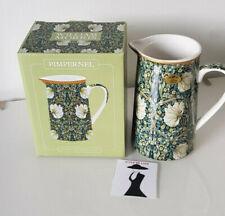 William Morris Pimpernel de cerámica de barro Crema/Jarra de Leche Caja De Regalo 15cm