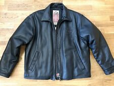 Mens Size Large 2002 Salt Lake City Olympics Genuine Leather Team Canada Jacket
