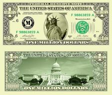 Miss Liberty Classic-Style Million Dollar Collectible Funny Money Novelty Note
