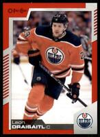 2020-21 UD O-Pee-Chee Red Border #1 Leon Draisaitl - Edmonton Oilers
