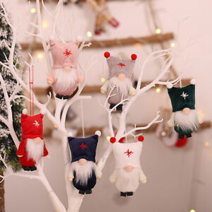 Christmas Decoration Cute Hat Mini Faceless Doll Old Man Gnome Pendant Gift