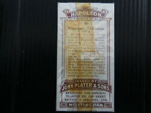 ONE COMPLETE SET CIGARETTE CARDS PLAYER'S NAPOLEON