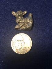 Miniature Pewter Baby Lamb Figurine
