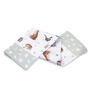 Pimpernel Wrendale Country Set Single Tea Towel Animal Owl Duck Badger Pheasant