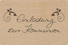 Heyda Holz Stempel Wooden Stamp Einladung Zur Kommunion