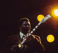 Guitarist Bb King Plays A Gibson Es355 1970s OLD MUSIC PHOTO 3