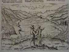 Lago di Averno - Kupferstich - Savonarola Süditalien Pozzuoli Ansicht - 1713