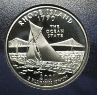 2001-S Rhode Island Gem DCAM Clad Proof State Quarter Stunning Coin  DUTCH