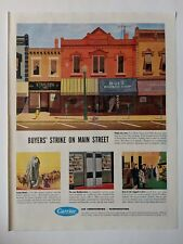 1950 Vintage Ad Carrier Air Conditioning Refrigeration Main Street Shopping