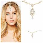 Bridal Forehead Jewelry Headpiece Flower Rhinestone Crystal Hair Head Jewelry