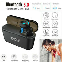 Wireless Earbud TWS Mini True Bluetooth 5.0 Stereo Earphone Bass In-Ear Headset❤