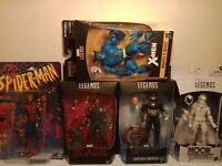 Marvel Legends Lot , Spiderman, Blade, Moon knight, Captain America. Beast