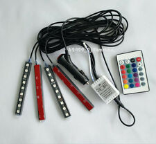 Glow Full Color LED Interior Car Kit Under Dash Foot Well Seats Inside Light M′: