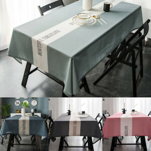 Tablecloth Print Waterproof Polyester Kitchen Dining Table Cover Room Home Decor