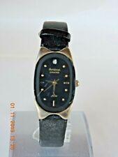 Armitron Now women's gold tone black dial quartz watch 75/2942