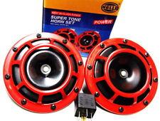 Hella Claxon 2 Pièces rouge avec Relais 12V,300/500 Hz,Diamètre 123mm Hella-346