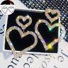 Drop Earrings Earring Heart Dangle Jewelry Women Fashion Ear Stud Rhinestone
