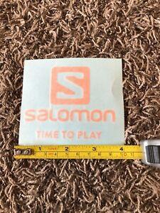 """Salomon Time To Play Sticker Decal Orange Ski Skiing Snowboard Outdoor 4"""""""