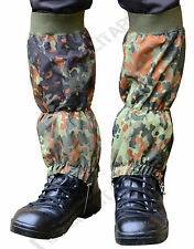 Military imperméable Ripstop randonnée marche guêtre - Camouflage Flecktarn -