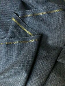 GREY SUITING FABRIC Super 120s WOOL FLANNEL, VITALE BARBERIS CANONICO ITALY 3.0m