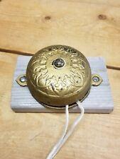 Eastlake Victorian Solid Brass Door Bell Connells Patent 1874 Rare Door Bell.