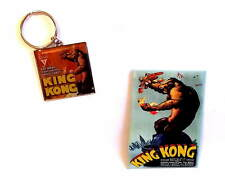 KING KONG - ORIGINAL 1933 FILM POSTER - Keyring & Fridge Magnet Set