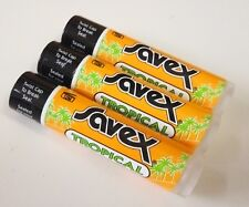 3pc Savex Lip Balm stick or Dry Chapped Lips each 0.15oz / 4.2g - tropical