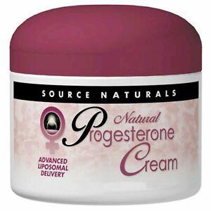 Source Naturals, Natural Progesterone Cream 4oz 113.4g - FAST DELIVERY