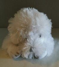 "FAO Schwartz Plush Sheepdog Dog / Puppy 11"" Stuffed Animal Toy White / Gray"