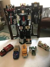 1999 BANDAI POWER RANGERS MEGAZORD RESCUE DELUXE SUPERTRAIN + LIGHTSPEED ZORD