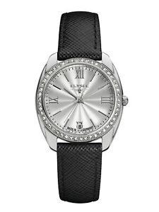 New Elysee Düsseldorf Watch with Stones Diana Stainless Steel Sapphire 28600B